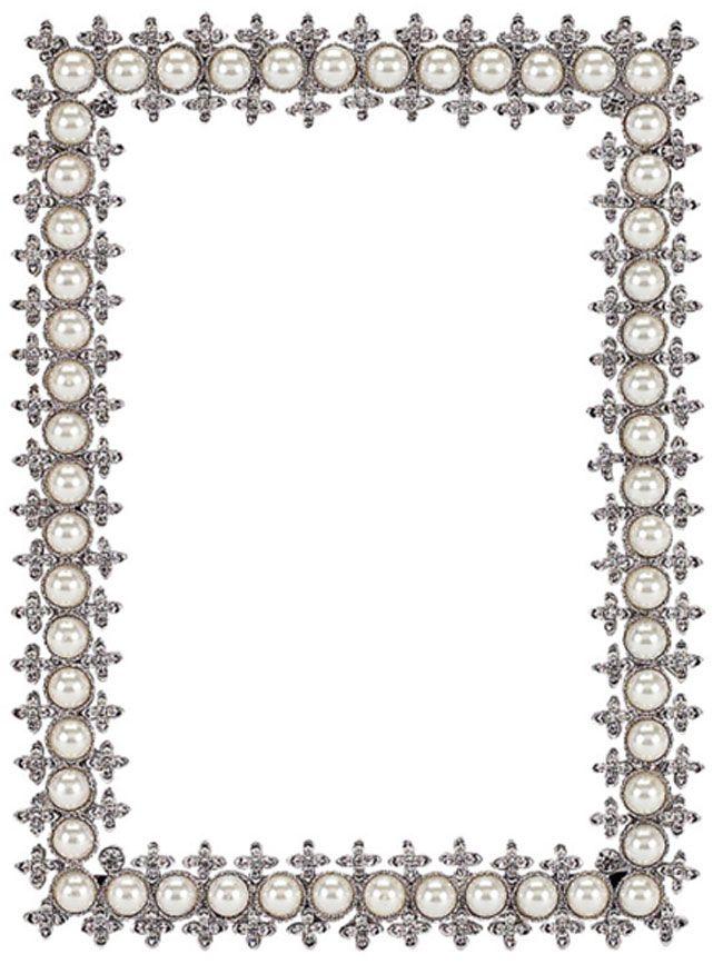 Olivia Riegel Crystal U0026 Pearl Frame, 4 X 6