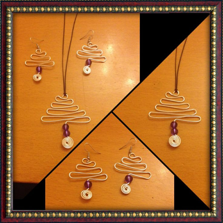 Silver Wire Trees earrings and necklace !
