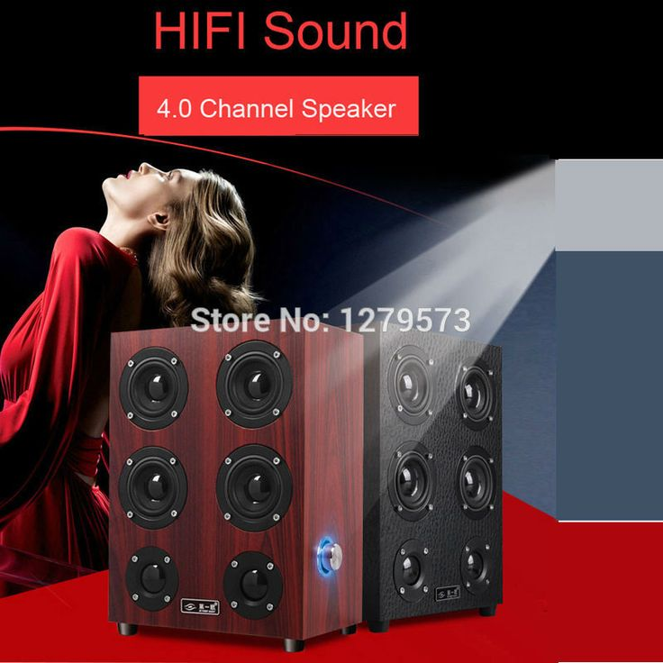 Speakers, 4 Way Hi-Fi Wooden Floorstanding Speaker for PC, MP3 players,Tablets, Home Entertainment System/Home Theater Red/Black