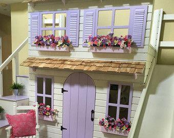 The Ultimate Custom Dollhouse Loft Bunk or di DangerfieldWoodcraft