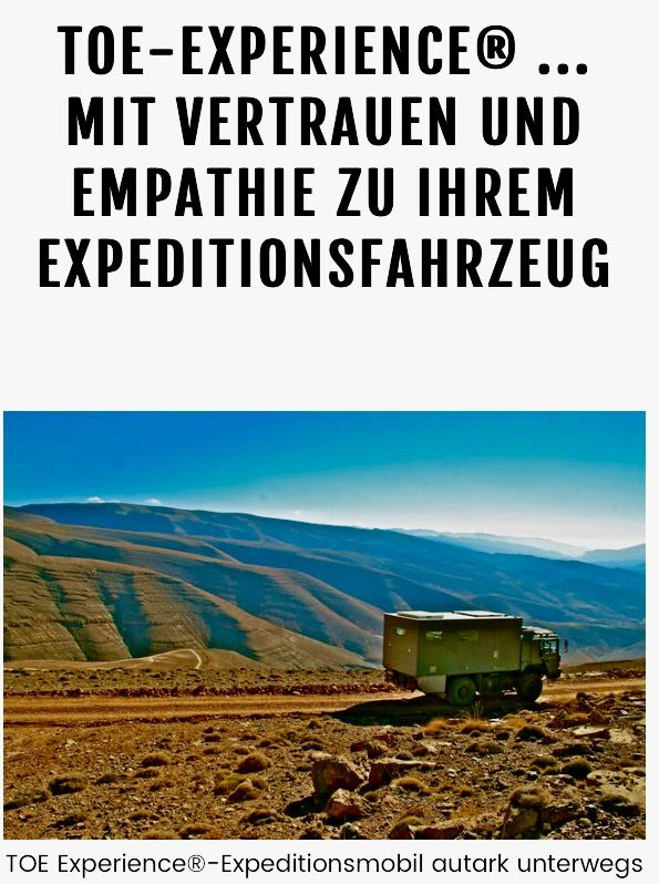 Expeditionsmobilbau toe-experience.com Expeditionsmobile/ Welt- Reisemobile