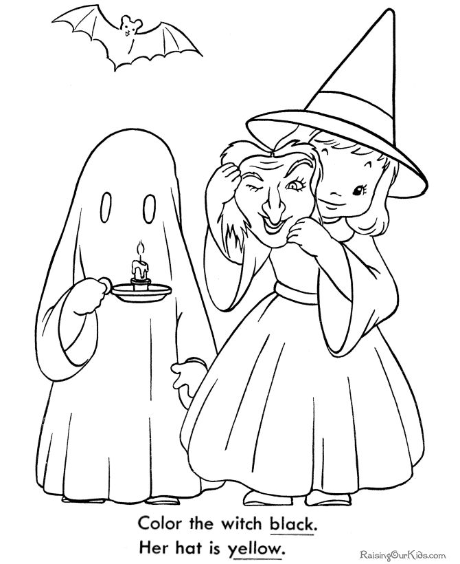 printable halloween coloring book pages