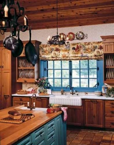 rustic painting ideas for kitchen | ... kitchen ideas in Blue Lighting and Colors in Mexican kitchen ideas