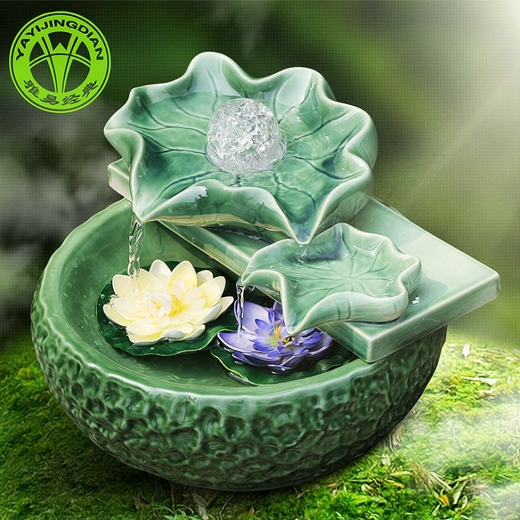 Top 10 Feng Shui Tips For Workplace - nice water feature for the office desk... ;)