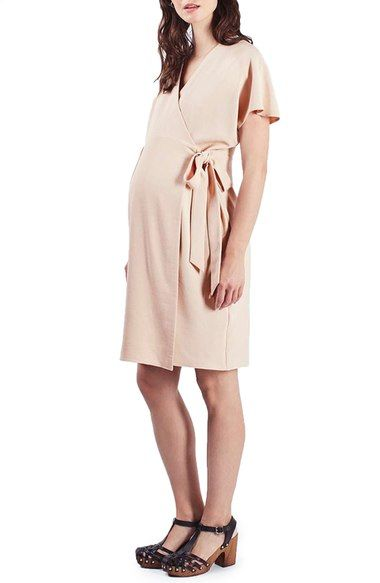 Topshop Wrap Maternity Midi Dress available at #Nordstrom