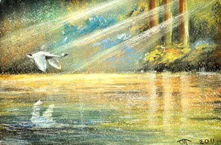 """Урок рисования пастелью - """"Утренний свет""""."""