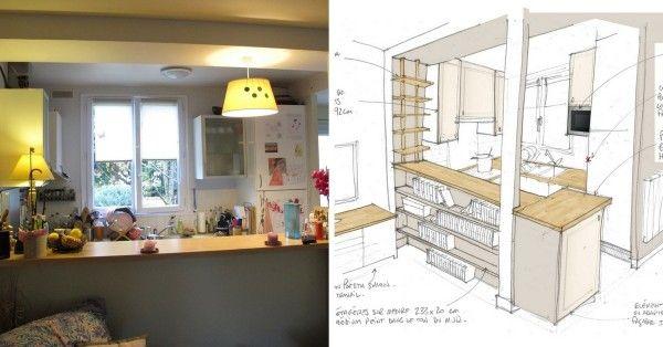 Les 25 meilleures id es de la cat gorie petite cuisine - Comment amenager une petite cuisine ouverte ...