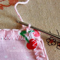 make lace trim on handkerchief