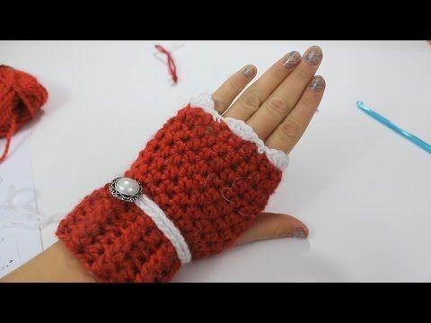 How to Crochet Fingerless Gloves - YouTube