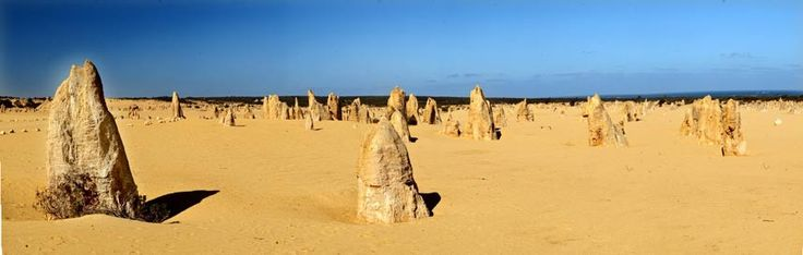 Pinnacles Desert, Western Australia Another site in Western Australian, these extraordinary limestone formations lie in the Nambung National Park, which is just a couple of hours' drive north of Perth. Not well known until the 1960s, the unusual structures, which are thought to be petrified tree stumps, now receive around a quarter of a million visitors a year.