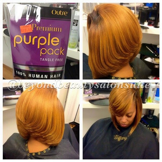 Simple quick weave bob! Outré is the brand I use! It's Yaky brand looks and feel natural. Clients quick weaves are temporary hair shouldn't cost an arm and leg.