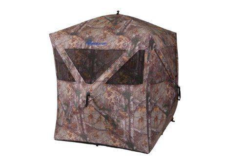 Ameristep Care Taker Hub Blind-Realtree Xtra - The blind is easy to setup and take down which is important in the field, and it also features shoot through mesh windows allowing for a 360 degree view if all are open.