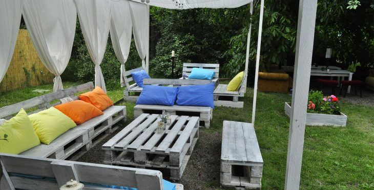 terraza chill out con palets