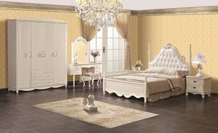 Set Tempat Tidur Pengantin Mewah | Duco | Minimalis | Jok | Jepara | Desain | Harga | Murah | Toko Furniture Kamar | Jual Tempat Tidur Pengantin | Putih Duco