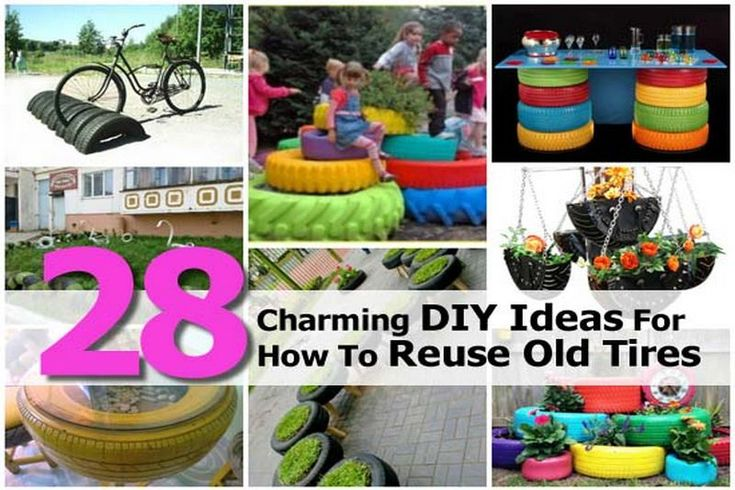 28 Charming DIY Ideas For How To Reuse Old Tires | Idees And Solutions