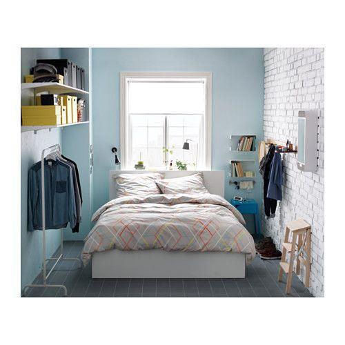 MALM Seng med oppbevaring - hvit, 180x200 cm - IKEA