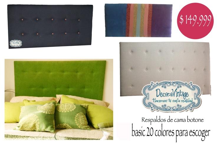 respaldos de cama linea basic  www.tiendadecoravintage.cl