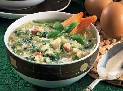 Minestra con uova sbattute - La ricetta di Buonissimo