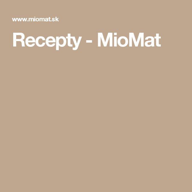 Recepty - MioMat