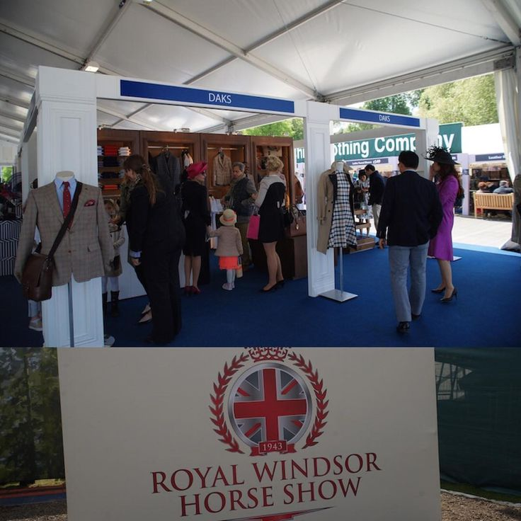 ロイヤルウィンザーホースショー(Royal Windsor Horse Show) DAKSのブース  Photo by:富岡秀次(RSVP Butlers Ltd)  DAKS公式HP「英国情報」でもご紹介しています。URL:http://www.daks-japan.com/englishinfo/vol40.html  #DAKS #london