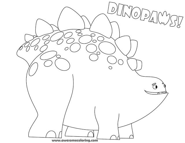 Download or print the awesome Dinopaws Bob coloring page