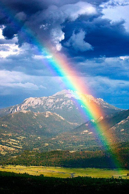 """When I send clouds over the earth, the rainbow will be seen in the clouds, and I will remember my promise to you and every being, that never again will floods come and destroy all life."" Genesis 9:14,15"