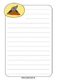 Ozdobný papier s krtkom
