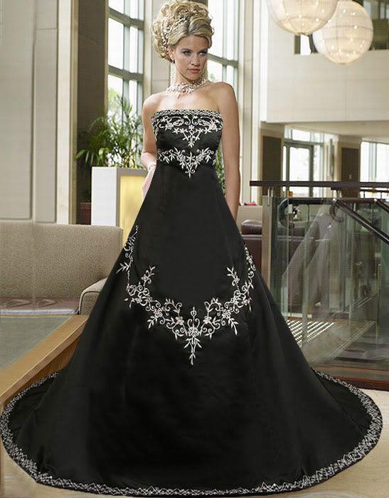 Black Wedding Host Dresses : Black wedding dresses weddings dressses gowns