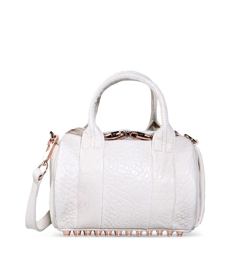 Alexander Wang Rocco White Leather Shoulder Bag