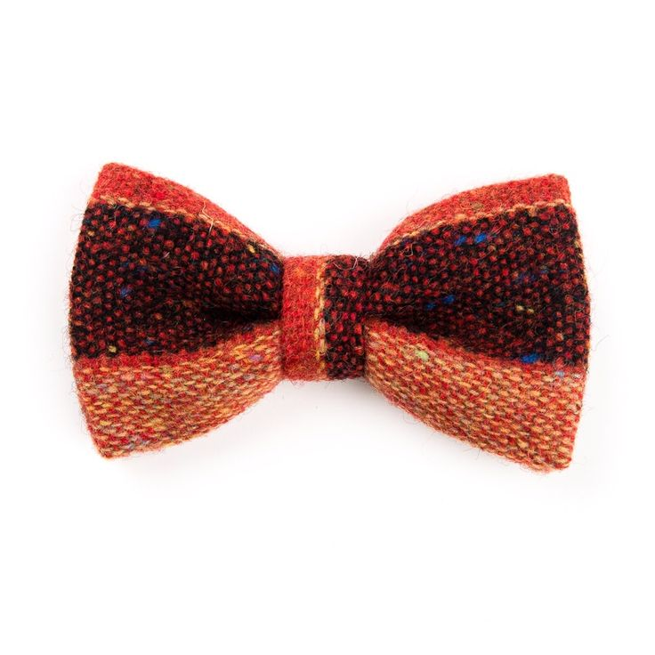 """Flecked Persimmon"" Donegal #tweed #bowtie. FREE Worldwide Shipping!"