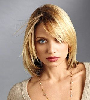 Square Face: AVOID short bobs unless you feel like looking like a UHAUL box. Go long long long with choppy, flowing layers everywhere. Bangs that are flowing are great for square faces, too.