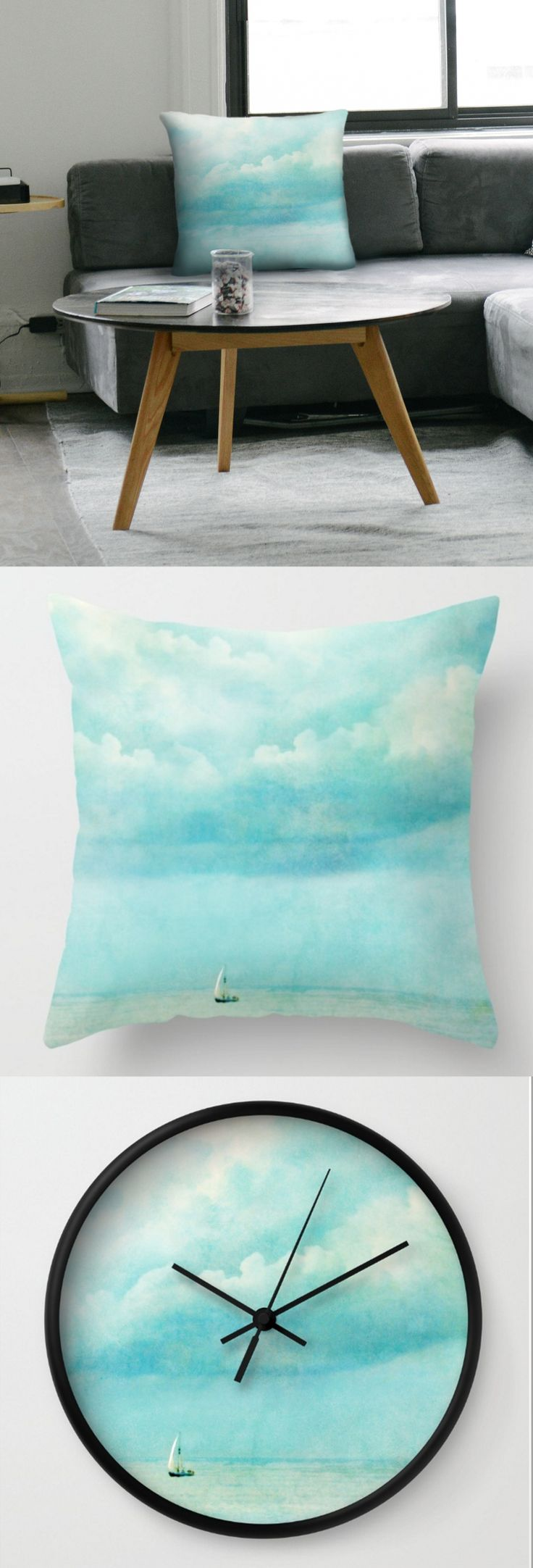 """new work - """"loner"""" now available in our store """"agat&marek"""" at #society6  http://bit.ly/1Wt2dDf  #sea #holiday #clouds #blue #sailing"""