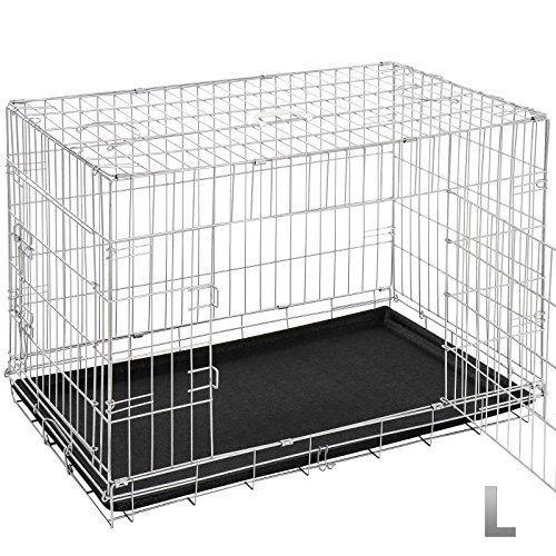 Leopet – Cage de Transport Pliable pour Chien avec 2 Portes et 2 Verrous (Taille au Choix): Cette cage de transport pratique est idéale…
