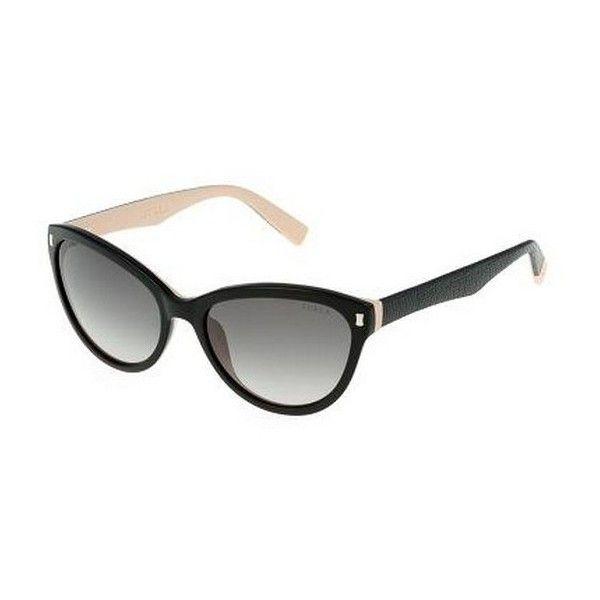 Womens Sunglasses, Shiny Transparent Plum Purple, 55 Furla Eyewear