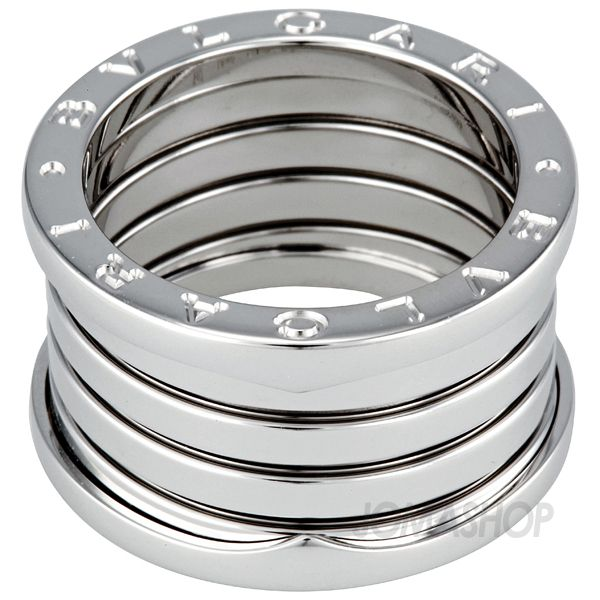 Bvlgari B.zero1 18kt White Gold Five-band Size 7 Ring 323580 $1,440.50