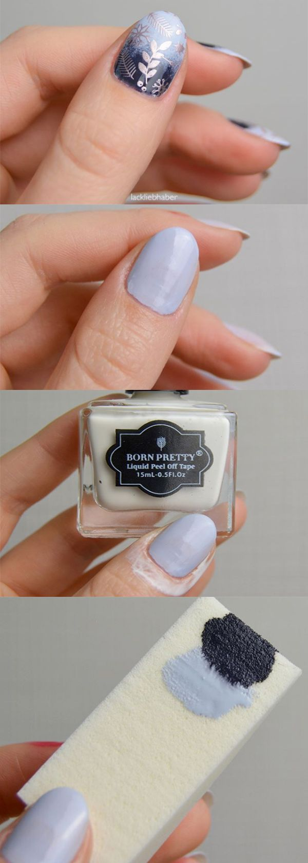 Nail design on how to make #gradientnails  with gradient sponge, Four steps to finish your cool stamping gradient nails, get the #nailtools in bornprettystore.com.  #bornpretty