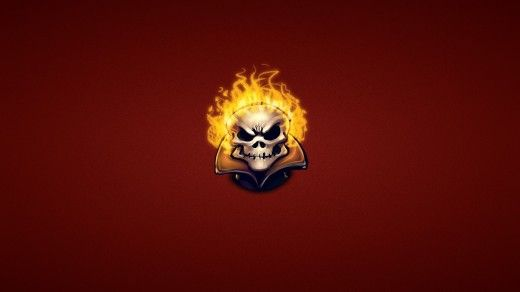Ghost Rider Fire Skeleton