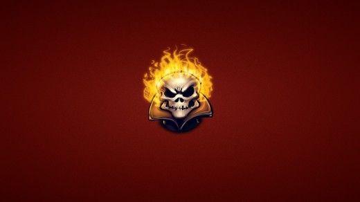 Ghost Rider Fire Skeleton