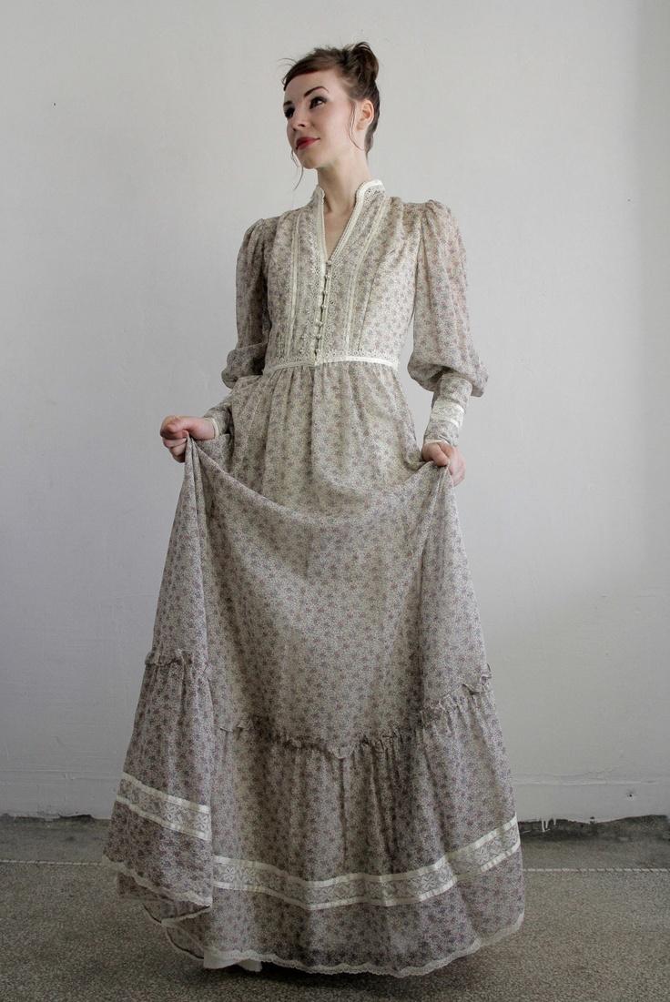 Vintage Gunne Sax Dress . 1960s Boho . Summer Gown . Fall Bride. $150.00, via Etsy.