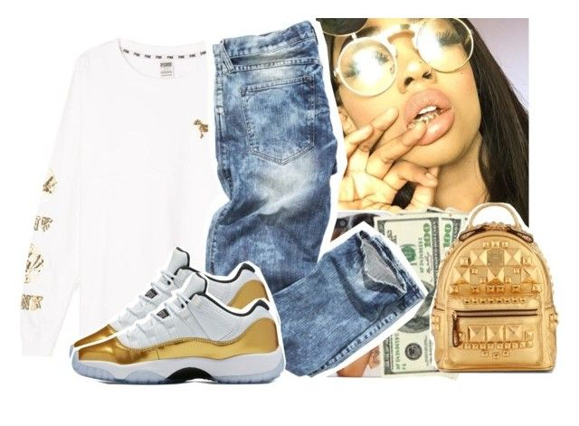 """i win a thousands to none✨"" by daeethakidd ❤ liked on Polyvore featuring Victoria's Secret, Gucci and MCM"