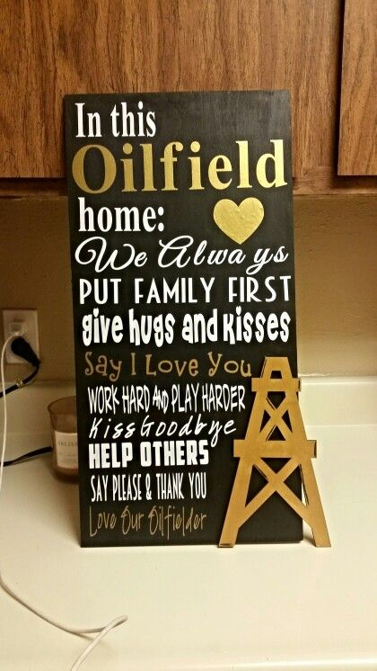 Oilfield Sign