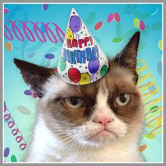 Birthday Grumpy Cat