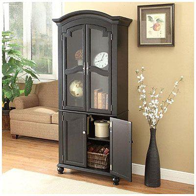 Black Cabinet with Glass Door at Big