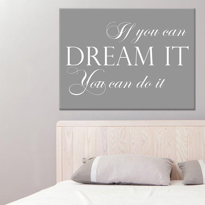 Tekst op canvas - Dream it