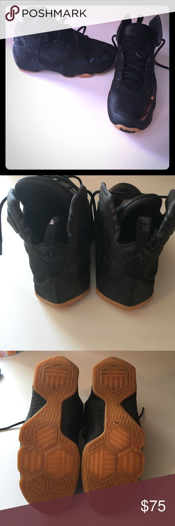 Nike Lebron XIII BOYS ALL BLACK! Lebron boys size 6.5. In great Shape! All black! Nike Shoes Sneakers