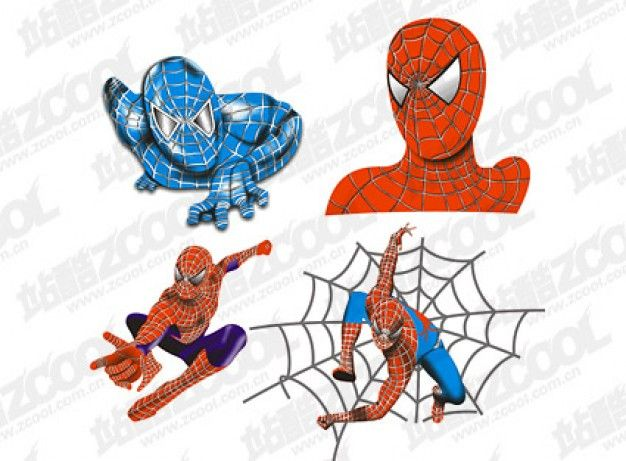 Spiderman Cupcake cut outs