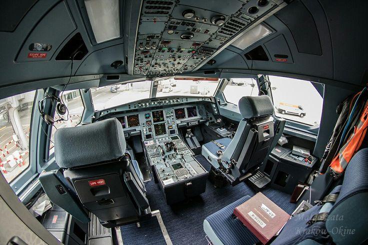 A330 Qatar Airways kokpit. Fot. Małgorzata Kraków-Okine