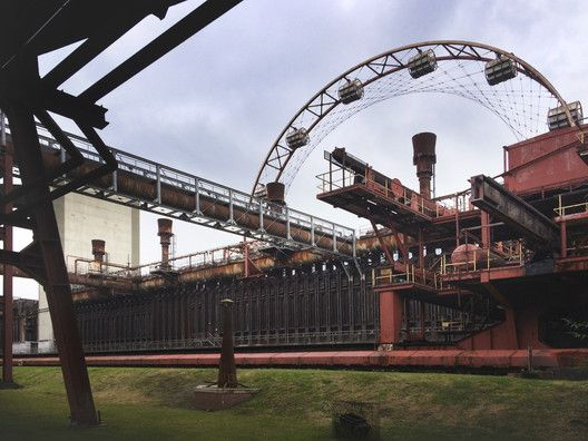 """A Photographic Journey Through Zollverein: Post-Industrial Landscape Turned Machine-Age Playground,The """"Skywheel"""" attraction. Image © Gili Merin"""