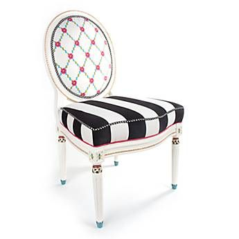 Merrifield Side Chair    See Embroidered Silk Flowers On Back! Find This  Pin And More On Mackenzie Childs   Inspired ...