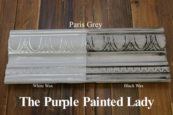 The Purple Painted Lady Paris Grey Chalk Paint Annie Sloan Black White Wax